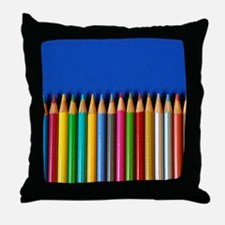 Colorful pencil crayons Throw Pillow