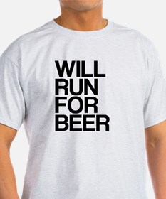Funny Will run for beer racerback T-Shirt