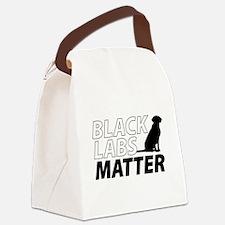 Unique Black lab Canvas Lunch Bag