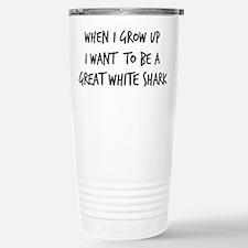 Cute Great white shark Travel Mug