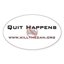 """""""Quit Happens"""" Oval Decal"""