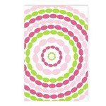 Pink & Green Mod Retro Postcards (Package of 8)