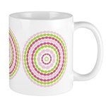 Pink & Green Mod Retro Ceramic Coffee Mug