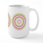 Pink & Green Mod Retro Large Mug (15 oz)
