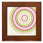 Pink & Green Mod Retro Framed Tile