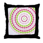 Pink & Green Mod Retro Throw Pillow