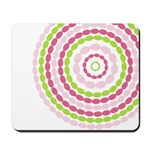 Pink & Green Mod Retro Mousepad
