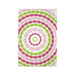 Pink & Green Mod Retro Rectangle Magnet (10 pack)