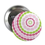 "Pink & Green Mod Retro 2.25"" Button (100 pack)"