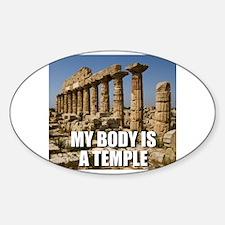 Cute Temple humor Sticker (Oval)
