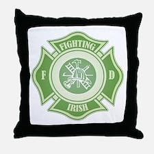 Fighting Irish Firefighter Throw Pillow