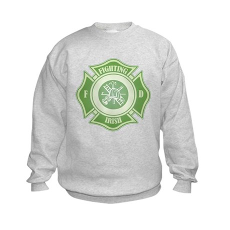 Fighting Irish Firefighter Kids Sweatshirt