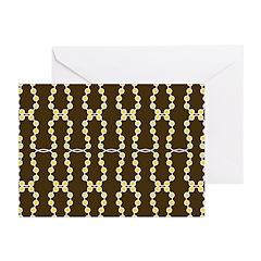 Retro Dots Art Greeting Cards (Pk of 20)