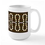 Retro Dots Art Large Mug (15 oz)
