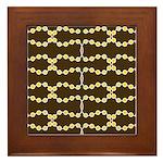 Retro Dots Art Framed Tile