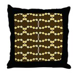 Retro Dots Art Throw Pillow