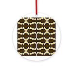 Retro Dots Art Ornament (Round)
