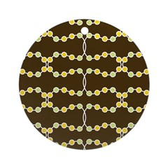Retro Dots Art Ornament (Round)