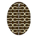 Retro Dots Art Oval Ornament