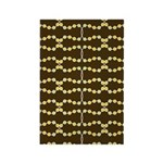 Retro Dots Art Rectangle Magnet (100 pack)