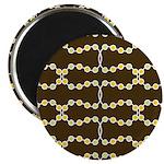 "Retro Dots Art 2.25"" Magnet (10 pack)"