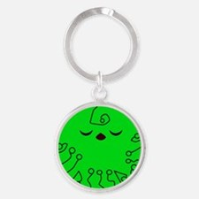 Cute Green Planet Keychains