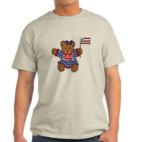 Patriotic Baby Bear Light T-Shirt
