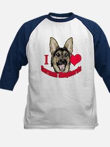 I Hart German Shepherds Tee