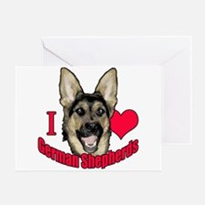 I Hart German Shepherds Greeting Card