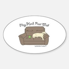 Cute Yellow lab mom Decal