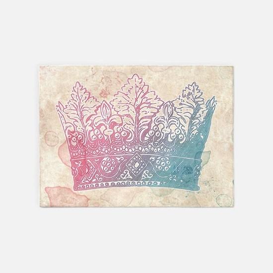 Sweet Pastel Crown 5'x7'Area Rug