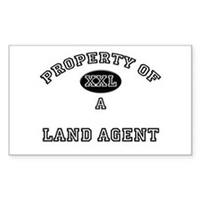 Property of a Land Agent Rectangle Decal