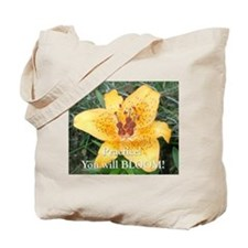Practice and Bloom Tote Bag