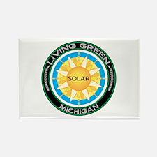 Living Green Michigan Solar Energy Rectangle Magne