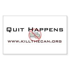 """Quit Happens"" Rectangle Decal"