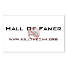 """Hall Of Famer"" Rectangle Decal"