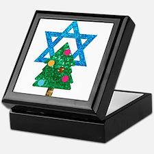 glitter christmukkah Keepsake Box