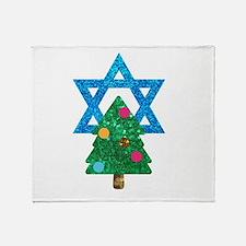 glitter christmukkah Throw Blanket