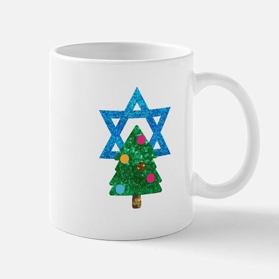 glitter christmukkah Mugs