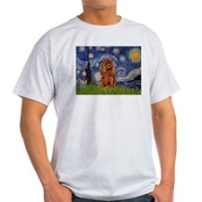 Starry Night & Ruby Cavalier Ash Grey T-Shirt
