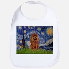 Starry Night & Ruby Cavalier Bib