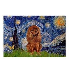 Starry Night & Ruby Cavalier Postcards (Package of