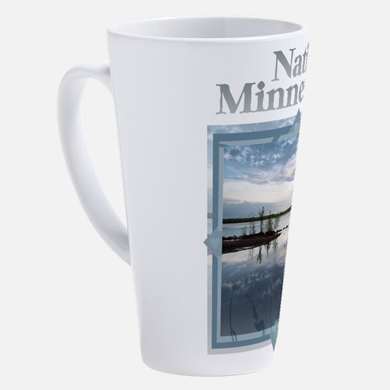 Cute Minnesota mosquito 17 oz Latte Mug
