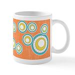 Retro Bulls Eye Spots Ceramic Coffee Mug