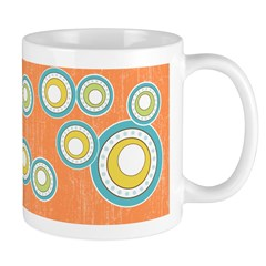 Retro Bulls Eye Spots Ceramic Coffee Mug