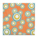 Retro Bulls Eye Spots Tile Drink Coaster