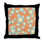 Retro Bulls Eye Spots Throw Pillow