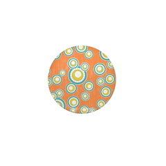 Retro Bulls Eye Spots Mini Button