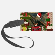 the scream christmas Luggage Tag