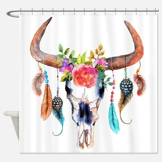 Cute Sugar skull Shower Curtain